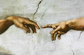 God creates man
