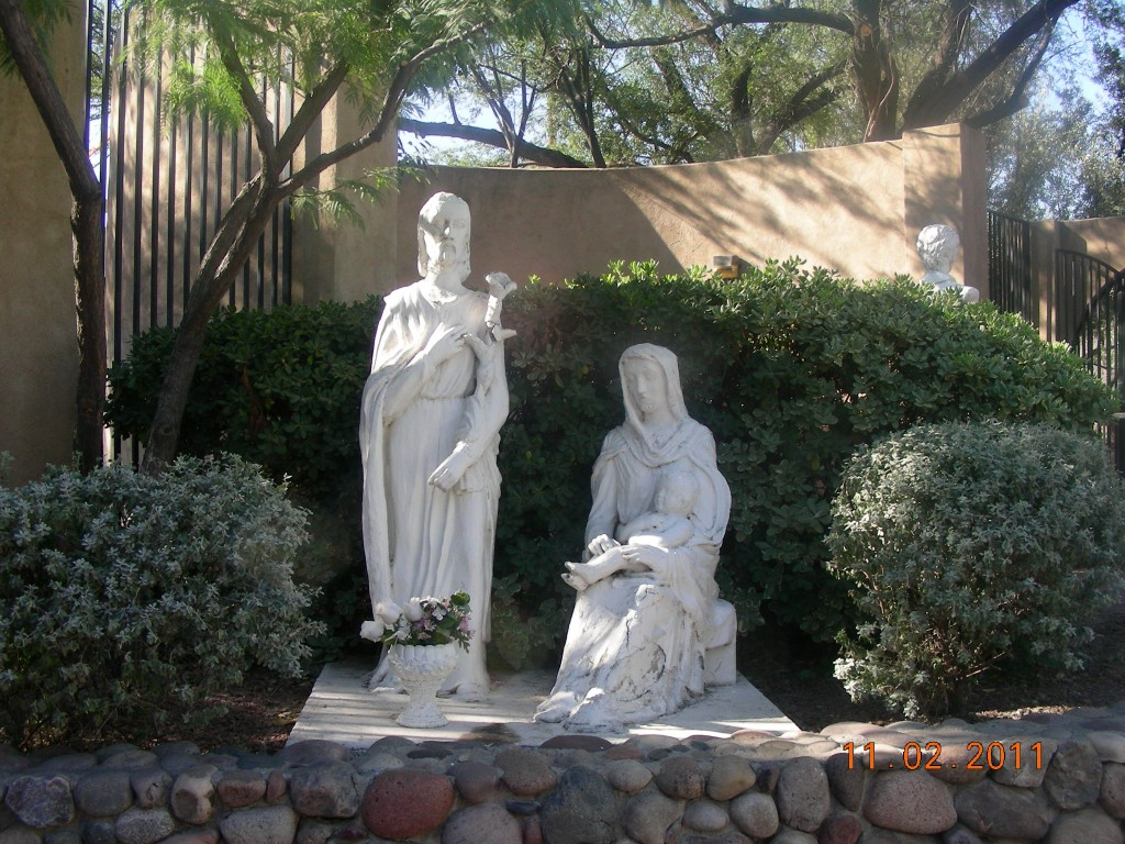 Joseph, Mary and the baby Jesus